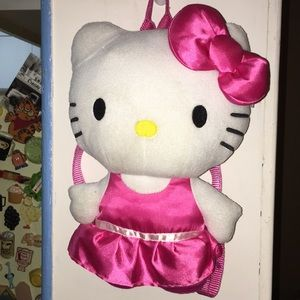 Backpack bag HeLLO KiTTy kids youth plush soft